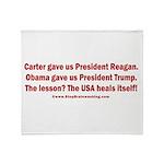 USA Heals Itself! Throw Blanket