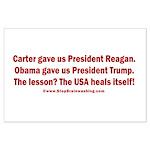USA Heals Itself! Large Poster