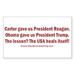 USA Heals Itself! Sticker (Rectangle)