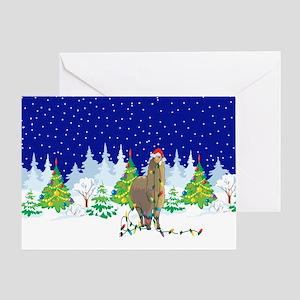 Christmas Lights Alpaca Greeting Card