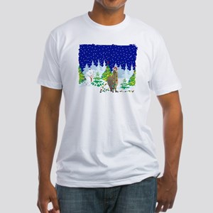 Christmas Lights Alpaca Fitted T-Shirt