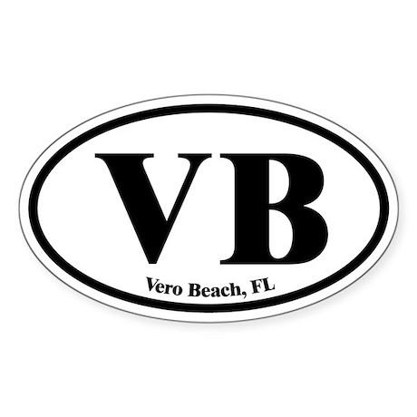 Vero Beach VB Euro Oval Oval Sticker