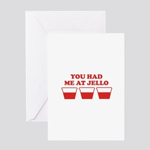 """You Had Me A Jello"" Greeting Card"
