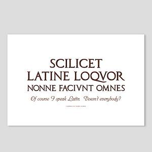 I Speak Latin Postcards (Package of 8)