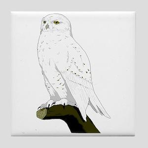 Snow Owl Tile Coaster
