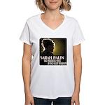 Sarah Palin Powerful Voice Women's V-Neck T-Shirt