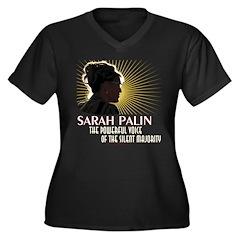Sarah Palin Powerful Voice Women's Plus Size V-Nec