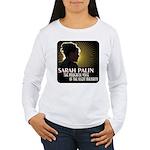 Sarah Palin Powerful Voice Women's Long Sleeve T-S