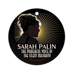Sarah Palin Powerful Voice Ornament (Round)