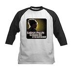 Sarah Palin Powerful Voice Kids Baseball Jersey