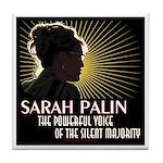 Sarah Palin Powerful Voice Tile Coaster