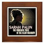 Sarah Palin Powerful Voice Framed Tile