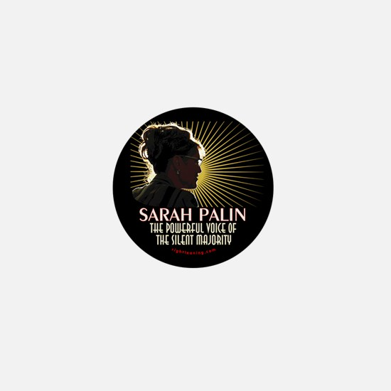 Sarah Palin Powerful Voice Mini Button