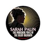 """Sarah Palin Powerful Voice 3.5"""" Button"""