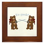 Teddy Bear Fencers Framed Tile