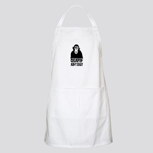 """Chimpin Ain't Easy: Pimpin Aint Easy"" BBQ Apron"