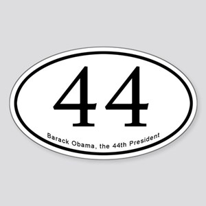 Barack Obama 44th President Oval Sticker