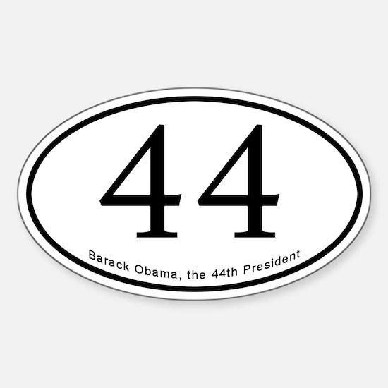 Barack Obama 44th President Oval Bumper Stickers