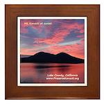 Framed Tile - Konocti Sunset