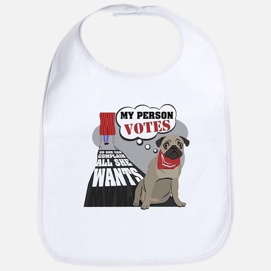 Voter Pug Bib