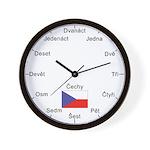 Czech Language Wall Clock