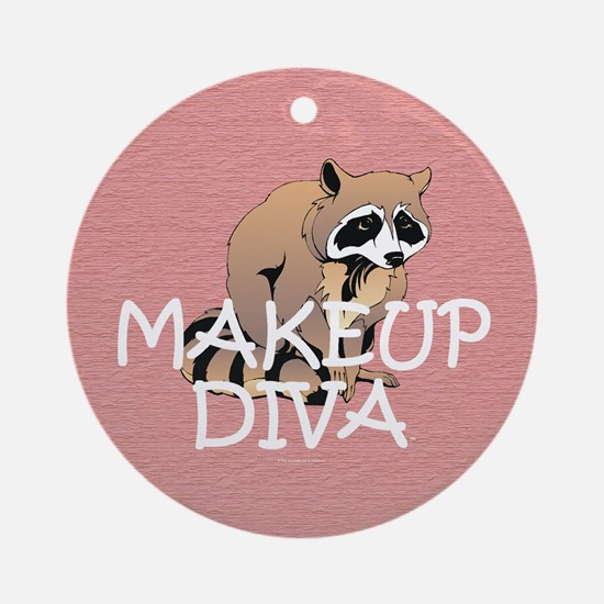 Makeup Maniac Round Ornament