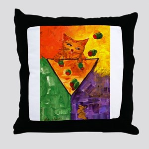 Tipsey Cat Just One More Throw Pillow