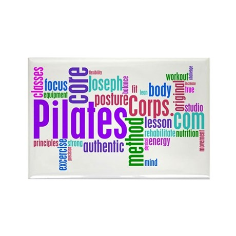 Pilates Corps Logo Rectangle Magnet