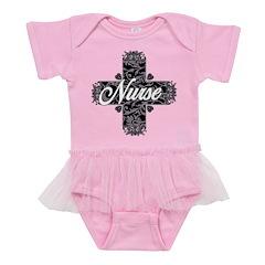 Gothic Nurse Lacy Text Baby Tutu Bodysuit