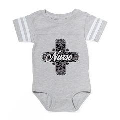 Gothic Nurse Lacy Text Baby Football Bodysuit