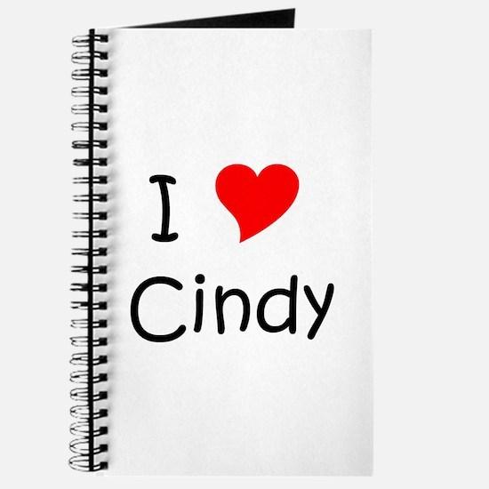 Cute I love cindy Journal