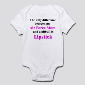 Air Force Mom Pitbull Lipstick Infant Bodysuit