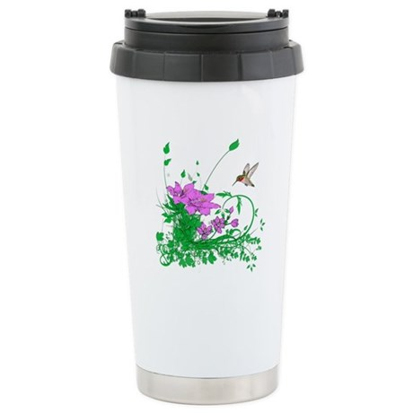 Hummingbird Garden Stainless Steel Travel Mug