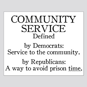 Community Service Defined Small Poster