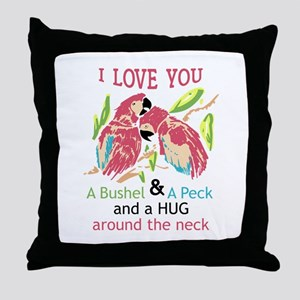 A Bushel and a Peck Throw Pillow