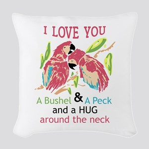 A Bushel and a Peck Woven Throw Pillow