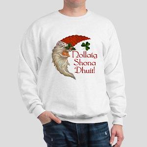 Santa Crescent Moon (Gaelic) Sweatshirt