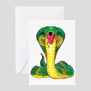 Cobra Snake Tattoo Art Greeting Card