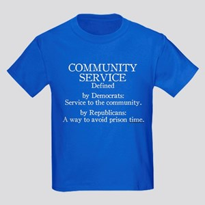 Community Service Defined Kids Dark T-Shirt