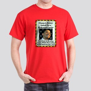 """Obama the Actor"" Dark T-Shirt"