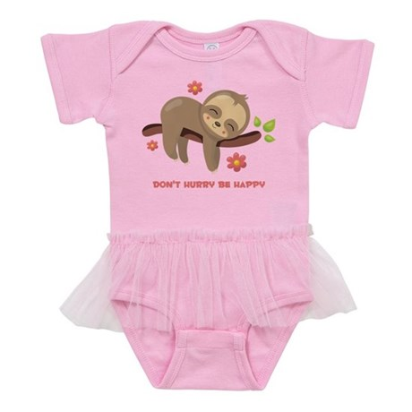 Don't Hurry Sloth Baby Tutu Bodysuit