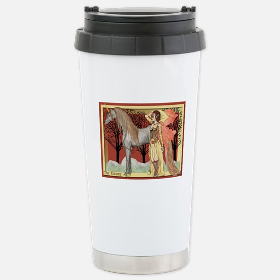Unicorn and Faerie art Stainless Steel Travel Mug