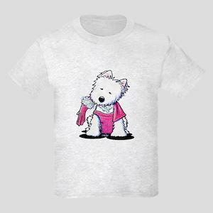 Material Girl Westie Kids Light T-Shirt