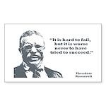 Roosevelt - Failure Rectangle Sticker 10 pk)