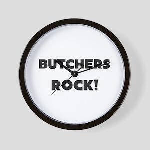 Butchers ROCK Wall Clock