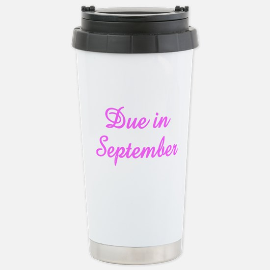 Due In September Stainless Steel Travel Mug