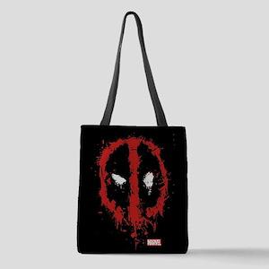Deadpool Splatter Mask Full Ble Polyester Tote Bag