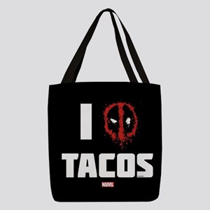 Deadpool Tacos Full Bleed Polyester Tote Bag