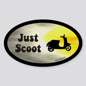 Just Scoot Oval Sticker