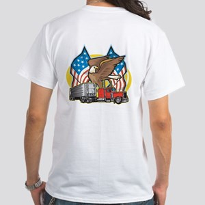 American Trucker White T-Shirt